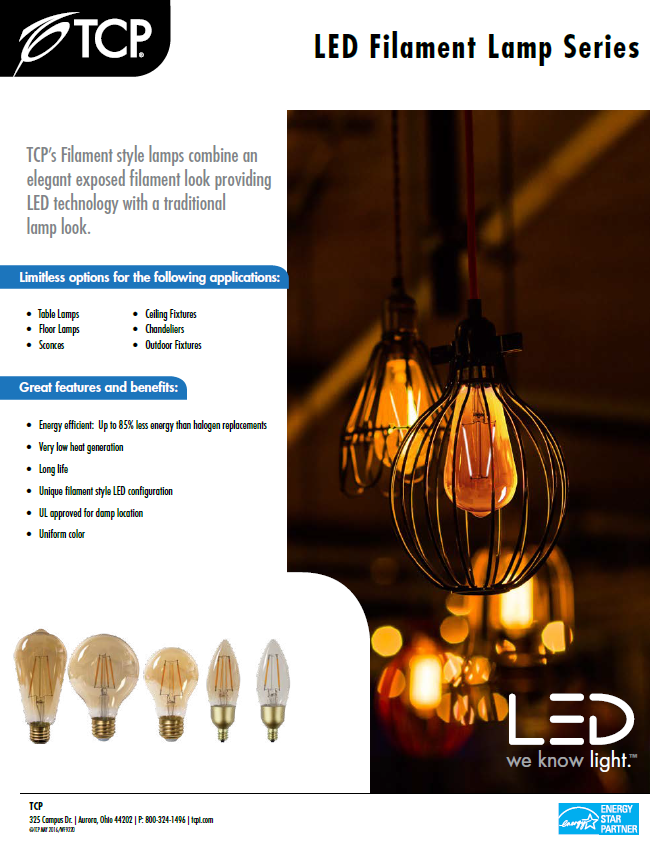 We are excited to announce that our tcp vintage led filament lamps the lfst2525kad and the lfst4025kad are now energy star and there are more to come samples are in so ask your phoenix sales rep for a dimming demo and aloadofball Image collections